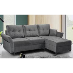 Canapé d angle convertible couchage et réversible : Bleu