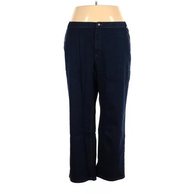 Woman Within Jeans - High Rise: Blue Bottoms - Size 30