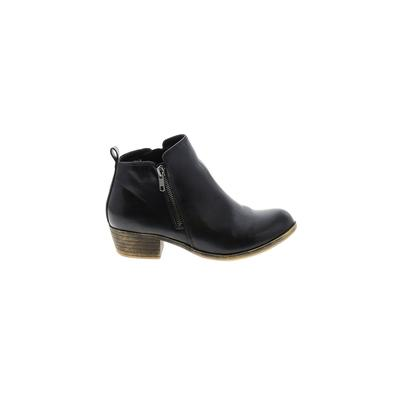 Dunes Relaxed Fashion - Dunes Relaxed Fashion Ankle Boots: Black Solid Shoes - Size 9