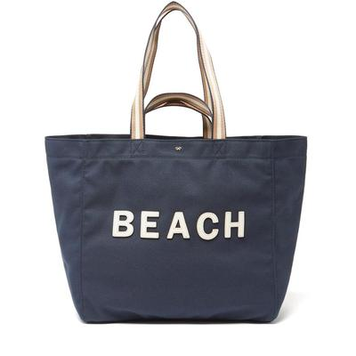 Household Beach Recycled-canvas Tote Bag - Blue - Anya Hindmarch Totes