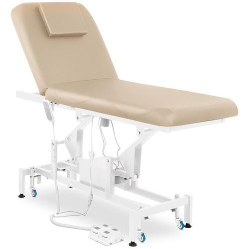 Massageliege Massagetisch Massagebank Therapieliege Elektrisch 2 Zonen Beige