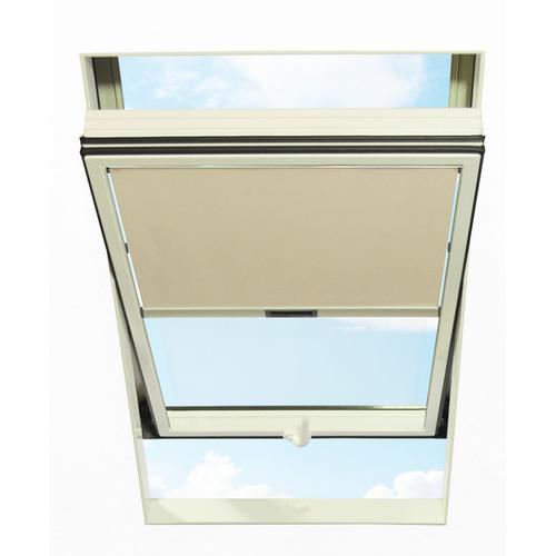 RORO Türen & Fenster Dachfensterrollo, Lichtschutz beige Dachfensterrollo Dachfensterrollos Rollos Jalousien