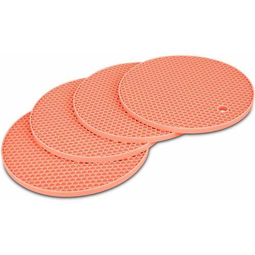 Hitzebeständiges Silikon Küchentopfhalter Set Topf Trivet Topf Trivet Topf Muster Silikon Rund