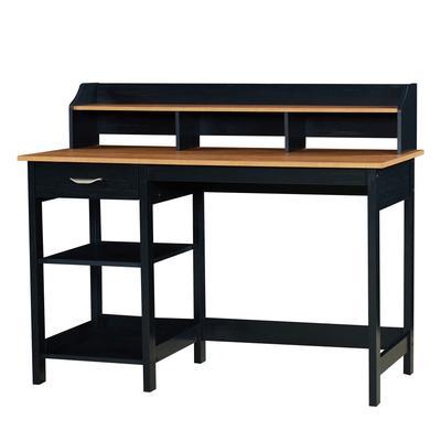 Finley 47-inch Writing Desk with Hutch by Saint Birch in Black Oak