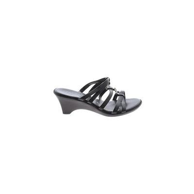 Italian Shoemakers Footwear - Italian Shoemakers Footwear Mule/Clog: Black Solid Shoes - Size 6