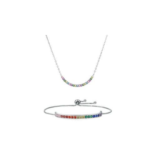 Schmuck mit Swarovski®-Kristallen: 2x Halskette