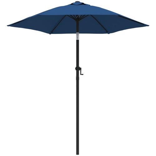 Vidaxl - Sonnenschirm Blau 200 x 211 cm Aluminium