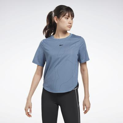 Reebok Women's United By Fitness Perforated T-Shirt in Blue Slate Size S - Training Clothing