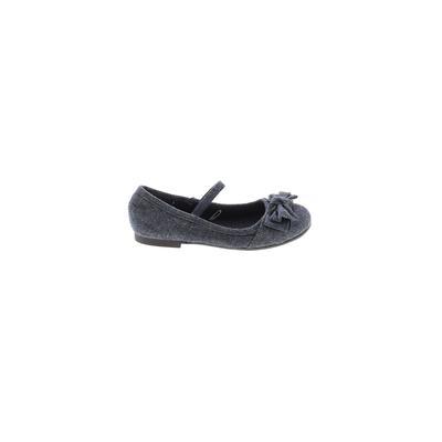 The Children's Place Dress Shoes: Blue Solid Shoes - Size 10