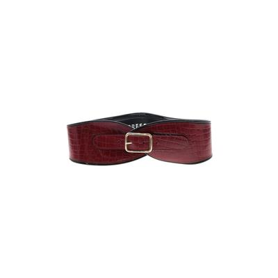 Express - Express Belt: Burgundy Solid Accessories - Size Medium