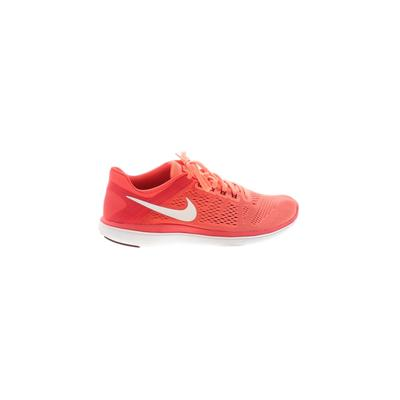 Nike Sneakers: Orange Solid Shoes - Size 9