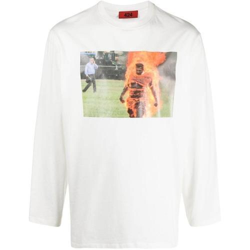 424 T-Shirt mit Foto-Print