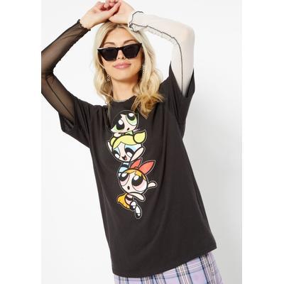 Rue21 Womens Black Classic Powerpuff Girls Graphic Tee - Size M