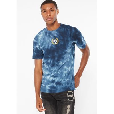 Rue21 Mens Blue Tie Dye La Drip Embroidery Tee - Size S