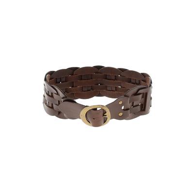 BCBGMAXAZRIA - BCBGMAXAZRIA Leather Belt: Brown Solid Accessories - Size Large