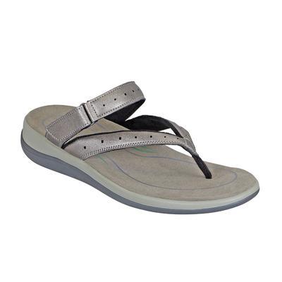 Women's Arch Support Orthotic Sandals | Orthofeet Gaya Pewter, 8.5 / Medium / Gray