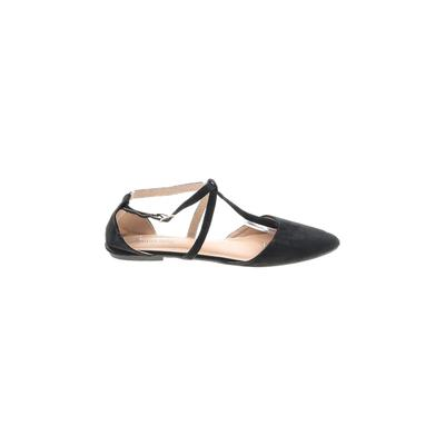 Mila Lady Flats: Black Solid Shoes - Size 11