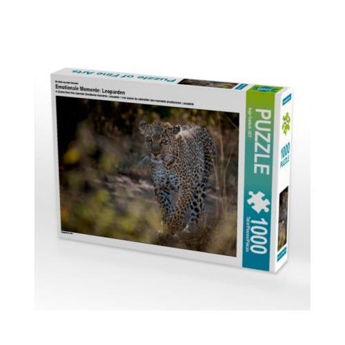 Emotionale Momente: Leoparden Foto-Puzzle Bild von Ingo Gerlach Puzzle