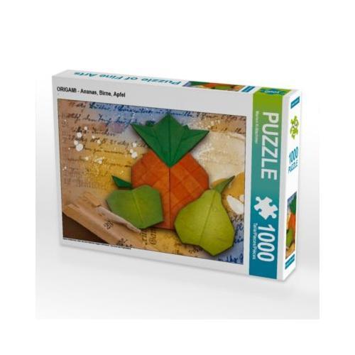 ORIGAMI - Ananas, Birne, Apfel Foto-Puzzle Bild von Marion Krätschmer Puzzle
