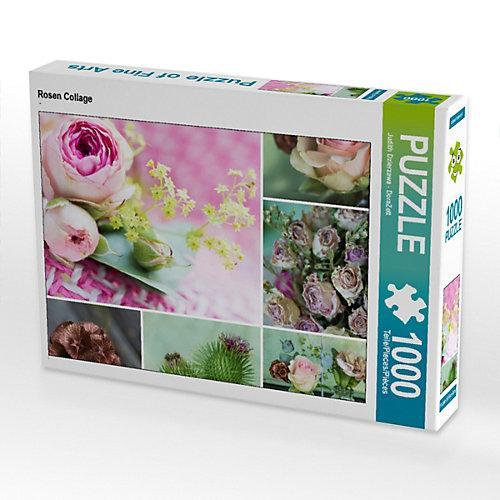 Rosen Collage Foto-Puzzle Bild von DoraZett Puzzle