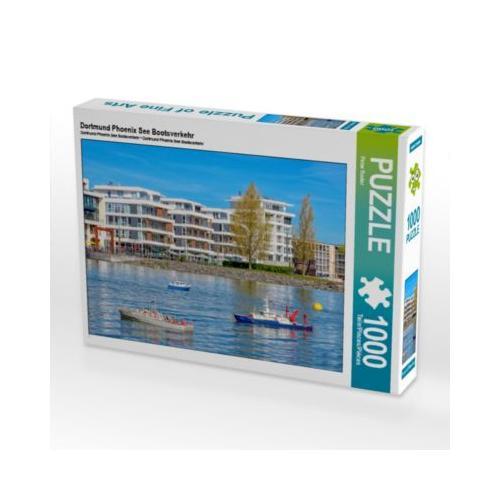 Dortmund Phoenix See Bootsverkehr Foto-Puzzle Bild von Peter Roder Puzzle