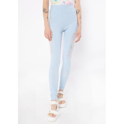 Rue21 Womens Blue Honeycomb Mesh Inset Ruched Back Leggings - Size Xl