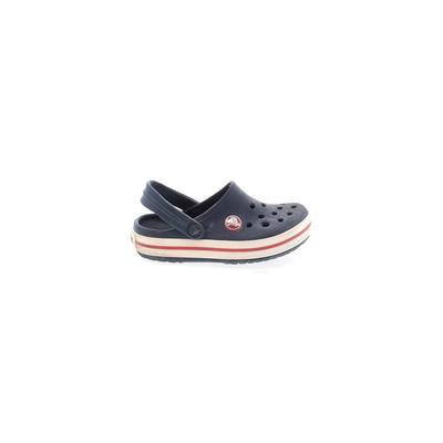 Crocs Sandals: Blue Solid Shoes - Size 8