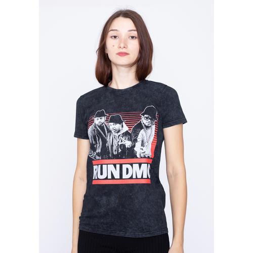 Run DMC - Gradient Bars Dip Dye - - T-Shirts
