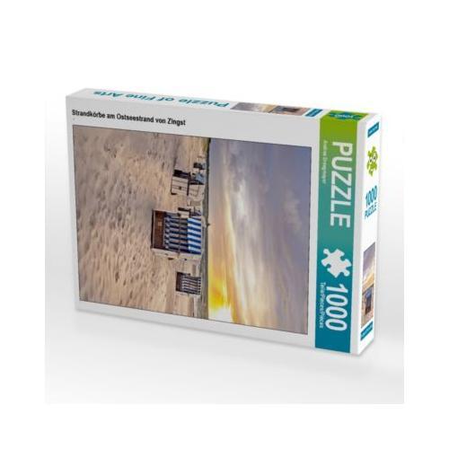 Strandkörbe am Ostseestrand von Zingst Foto-Puzzle Bild von Andrea Dreegmeyer Puzzle