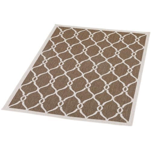 Schneider Outdoorteppich Andro, rechteckig, 5 mm Höhe braun Outdoor-Teppiche Teppiche