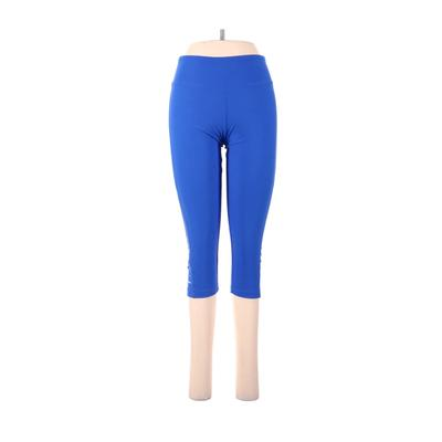 Bally Total Fitness Active Pants - High Rise: Blue Activewear - Size Medium