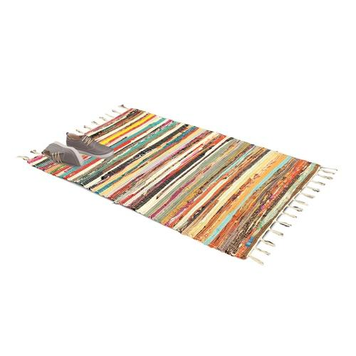 Rechteckiger Chindi-Teppich: 60 x 90 cm