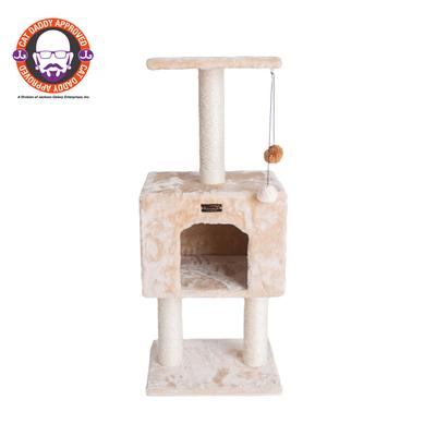 Cat Pet Tree With Condo And Scratch Post by Armarkat in Beige