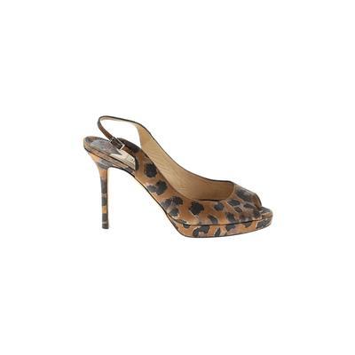 Jimmy Choo Heels: Brown Print Sh...