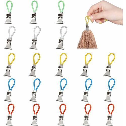 25Pcs Küche Handtuch Clips, Geschirrtuchhalter Clips, Aufhänger Haken für Home Kitchen