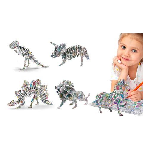 3D-Puzzle: 4er-Set / Tiere und Flugzeuge
