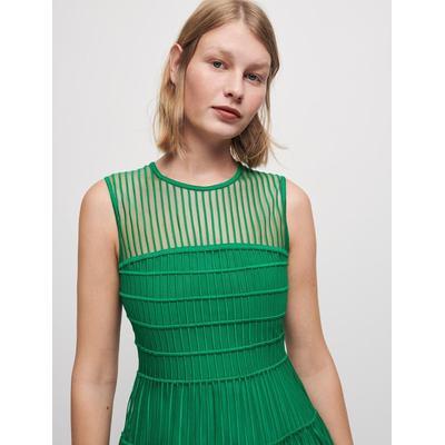 Fancy Fabric Dress - Green - Maje Dresses