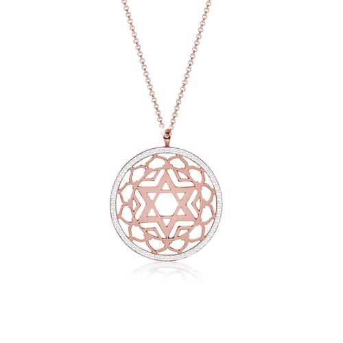 Halskette Sahasrara Chakra Kristalle 925Er Silber Nenalina Rosegold