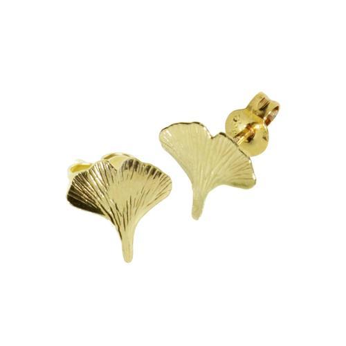 Ohrstecker - Ginkgoblatt Gold 333/000 , OSTSEE-SCHMUCK gold