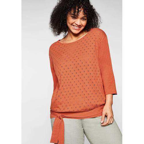 T-Shirt Sheego kupferfarben