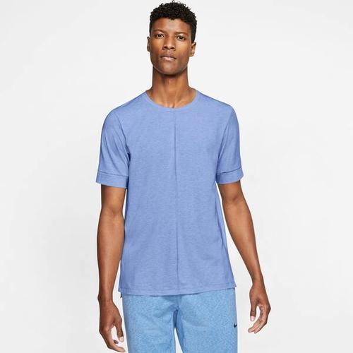 NIKE Herren Yoga T-Shirt Nike Yoga Dri-Fit, Größe L in Weiß