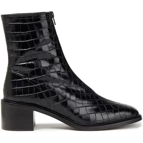 By Far Bruna Ankle Boots Aus Leder Mit Krokodileffekt