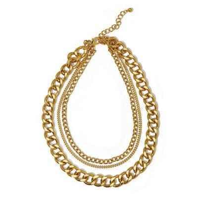 Boston Proper - Three Layered Chain Necklace - Gold - One Size