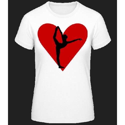 Yoga Herz - Frauen Basic T-Shirt