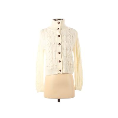 Lovely Girl Cardigan Sweater: Ivory Solid Sweaters & Sweatshirts - Size Small