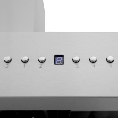 ZLINE 54 in. Professional Wall Mount Range Hood in Stainless Steel with Built-in CrownSound® Bluetooth Speakers (667CRN-BT-54) - ZLINE Kitchen and Bath 667CRN-BT-54