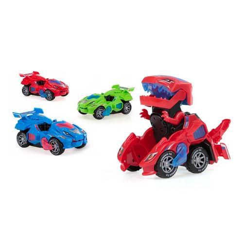 Dinosaurier-Auto: Grün + Blau/2