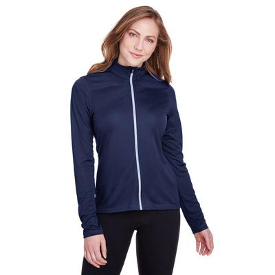Puma Golf 596803 Women's Icon Full-Zip Jacket in Peacoat size 2XL | Polyester