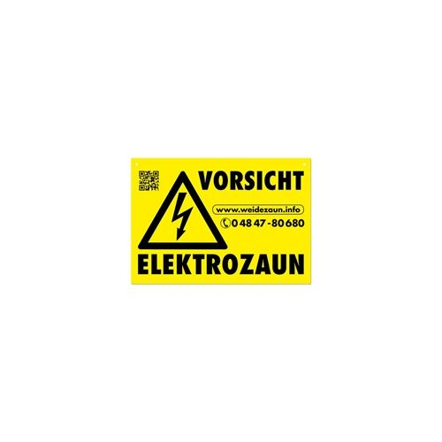 5x Warnschilder VORSICHT ELEKTROZAUN