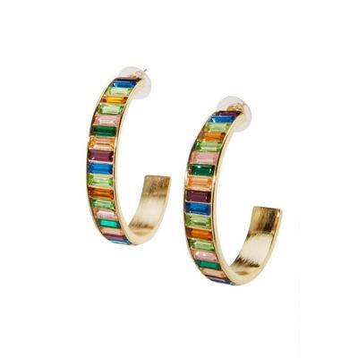 Boston Proper - Multicolor Hoop Earrings - Gold Multi - One Size